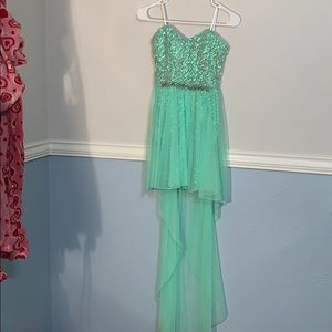Green sequined High-Low dress size 1